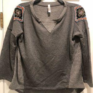 Funky flattering sweatshirt